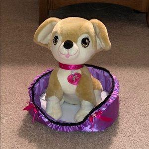 NWOT Barbie Dog and Dog Bed
